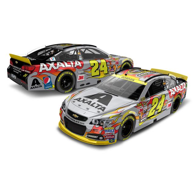 Hendrick Motorsports Jeff Gordon #24 Final Ride Axalta 1:24 Scale Nascar Sprint Cup Series Color Chrome Die-Cast
