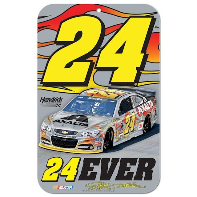 "Hendrick Motorsports Jeff Gordon #24 24EVER 11""x17"" Plastic Sign"
