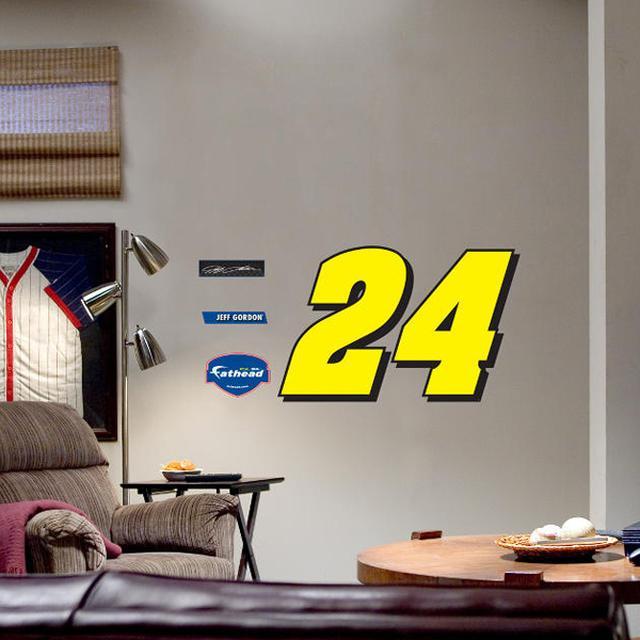 Hendrick Motorsports Jeff Gordon Fathead Number 24 Wall Graphic