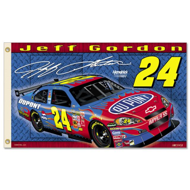 Hendrick Motorsports Jeff Gordon #24 2-Sided 3'x5' Flag