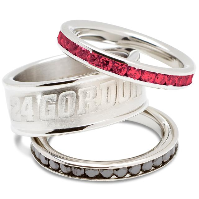 Hendrick Motorsports Jeff Gordon Crystal Stack Rings