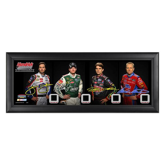 Jeff Gordon #24 Hendrick Motorsports 25th Anniversary Framed Panoramic Collectible