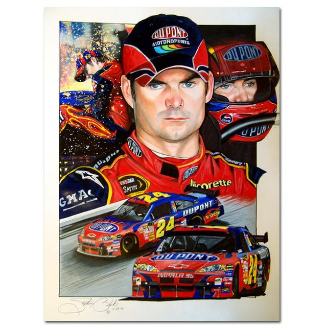 Hendrick Motorsports Jeff Gordon 'Focused' Stephen Balok Print
