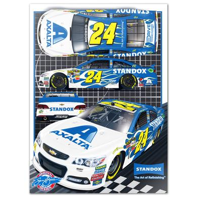 Hendrick Motorsports Sam Bass Signature Series #24 STANDOX LTD Edition Print
