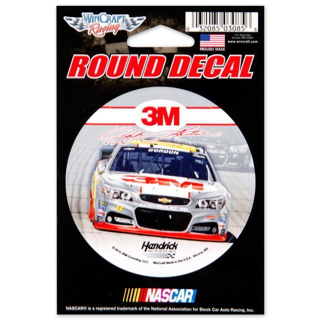 "Hendrick Motorsports Jeff Gordon 2015 3"" x 3"" Decal"
