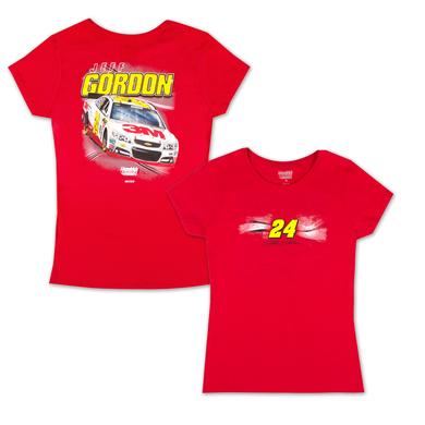Hendrick Motorsports Jeff Gordon #24 Ladies Full Throttle Tee