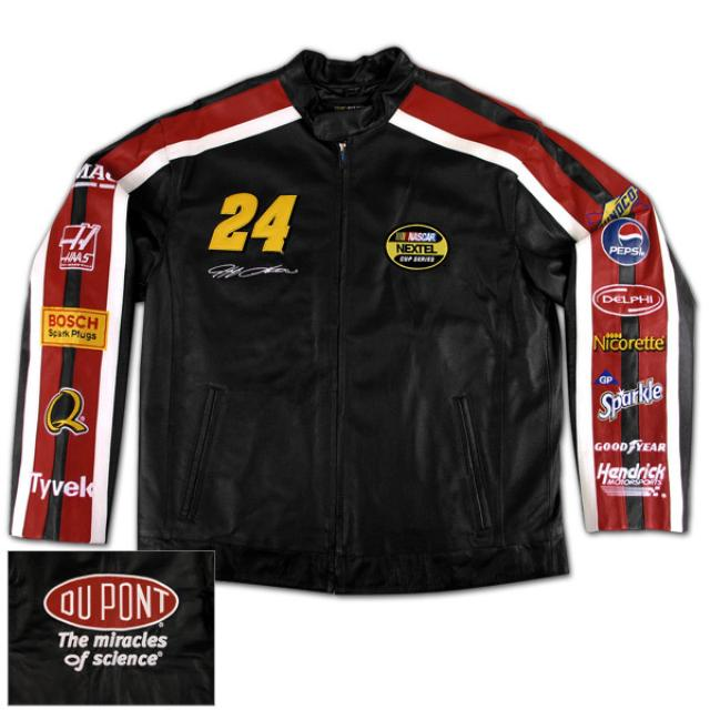 Hendrick Motorsports Jeff Gordon Men's Leather Jacket