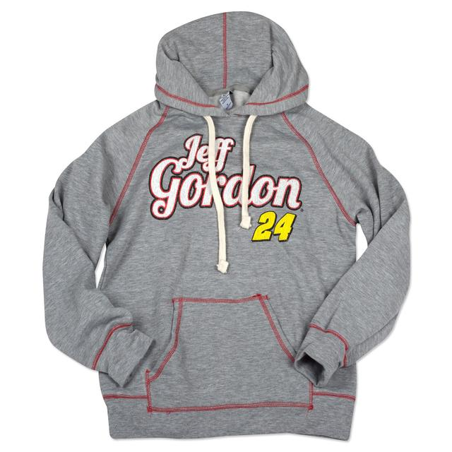 Hendrick Motorsports Checkered Flag Sports Jeff Gordon - Ladies Contrast Fleece Hoodie