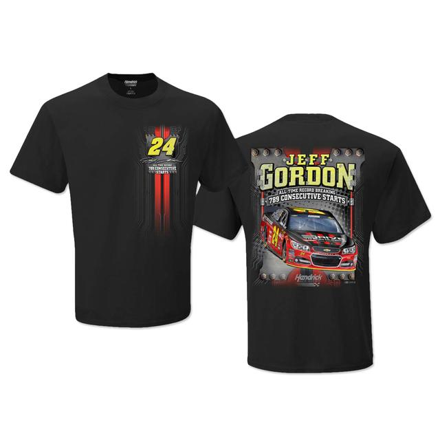 Hendrick Motorsports Jeff Gordon #24 Consecutive Start Record T-Shirt