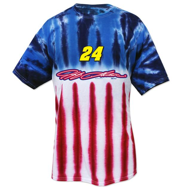 Hendrick Motorsports Jeff Gordon #24 American Tye Dye T-Shirt