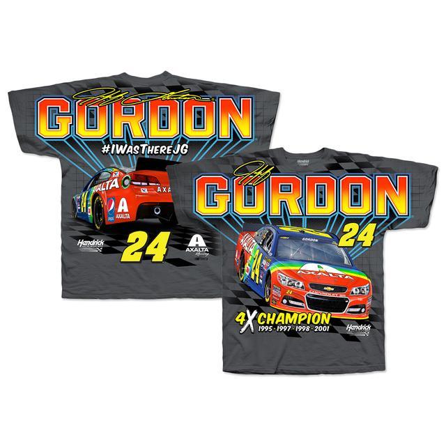 Hendrick Motorsports Jeff Gordon # 24 Bristol Rainbow Rides Again Total Print T-Shirt