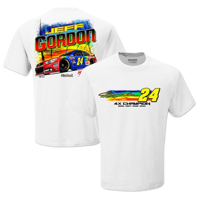 Hendrick Motorsports Jeff Gordon # 24 Bristol Rainbow Rides Again 4X Champ Graphic T-Shirt