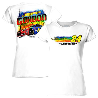 Hendrick Motorsports Jeff Gordon # 24 Bristol Rainbow Rides Again Ladies Graphic T-Shirt
