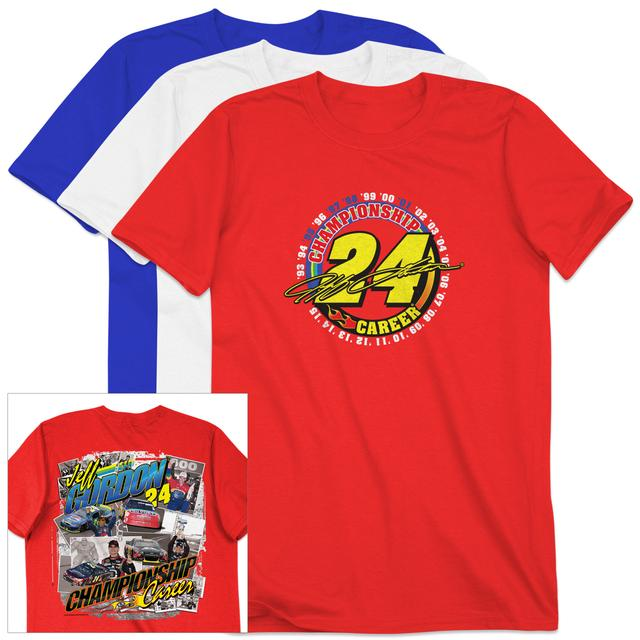 Hendrick Motorsports Pre-Order Exclusive Jeff Gordon #24 Championship Career T-Shirt