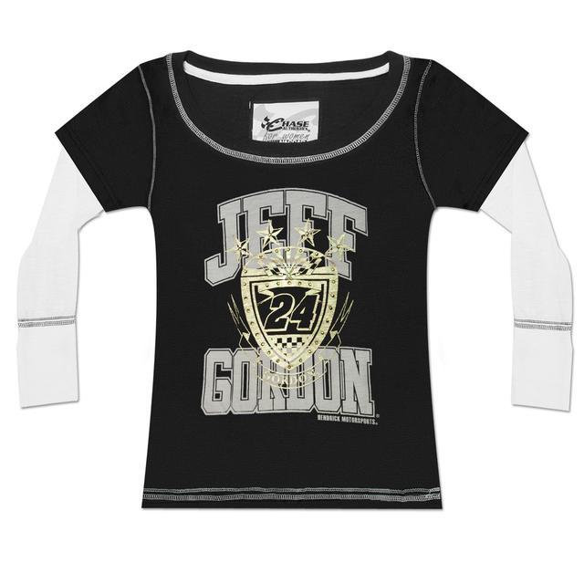 Hendrick Motorsports Jeff Gordon #24 Ladies Black Slub T-Shirt