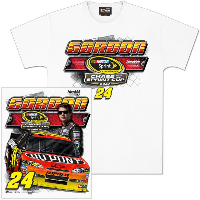 Hendrick Motorsports Jeff Gordon 2010 Chase For The Cup T-Shirt