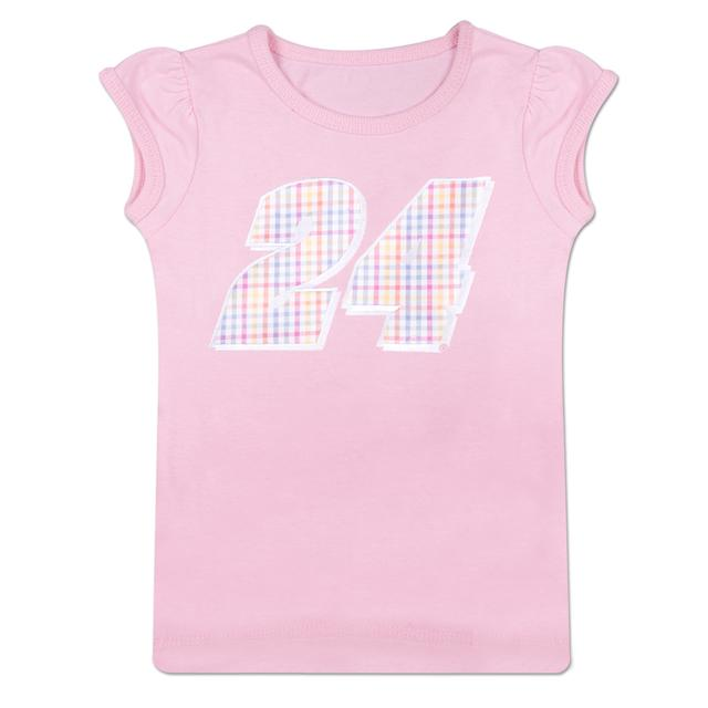 Hendrick Motorsports Jeff Gordon #24 Number Girls Toddler T-Shirt