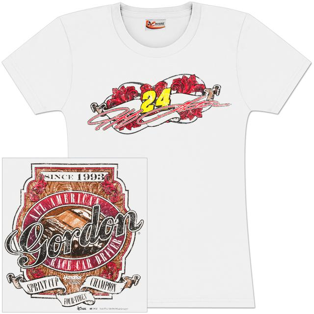 Hendrick Motorsports Jeff Gordon #24 Ladies Since 1993 T-Shirt