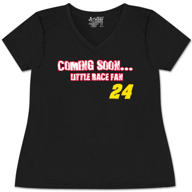 Hendrick Motorsports Jeff Gordon #24 Ladies Maternity V-neck T-Shirt