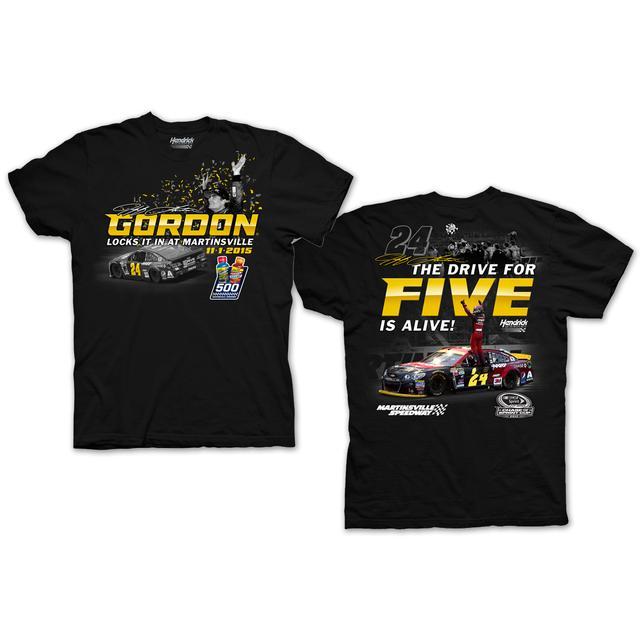 Hendrick Motorsports Jeff Gordon #24 2015 Martinsville Race Winner T-shirt PRE-ORDER