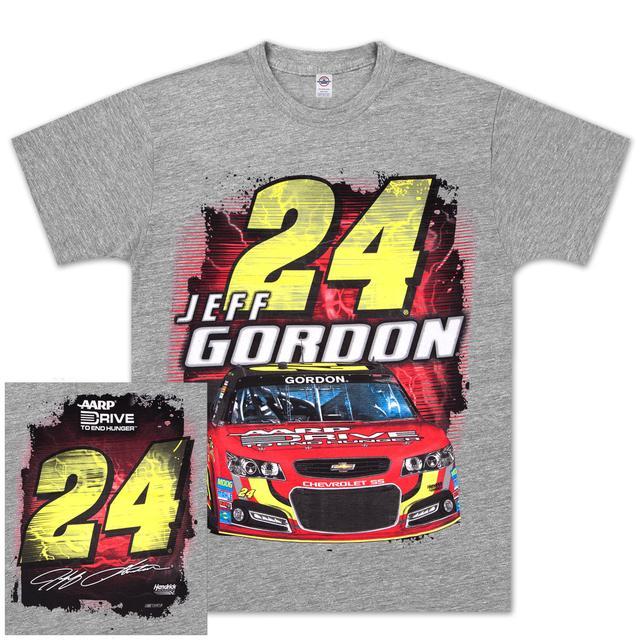 Hendrick Motorsports Jeff Gordon #24 Drive to End Hunger Silver Streak T-shirt