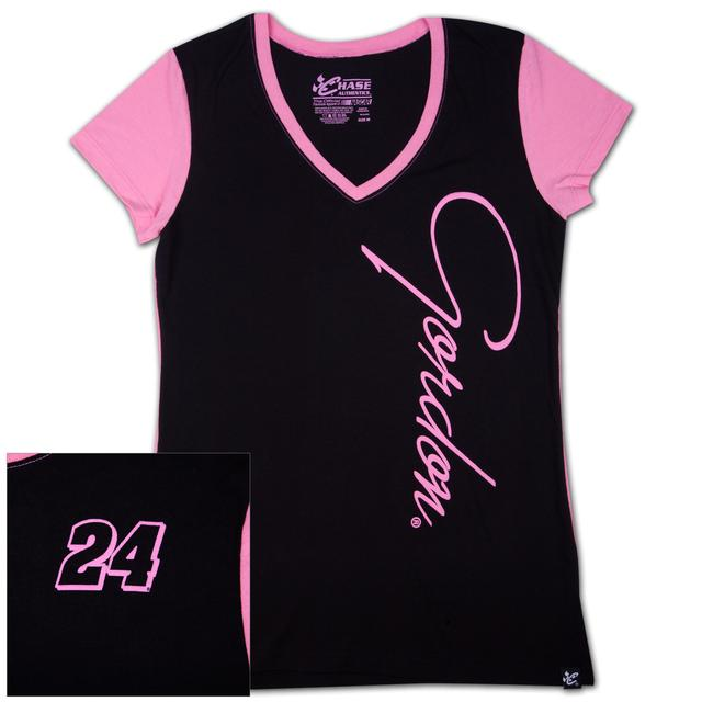 Hendrick Motorsports Jeff Gordon #24 Ladies Interval V-neck T-shirt