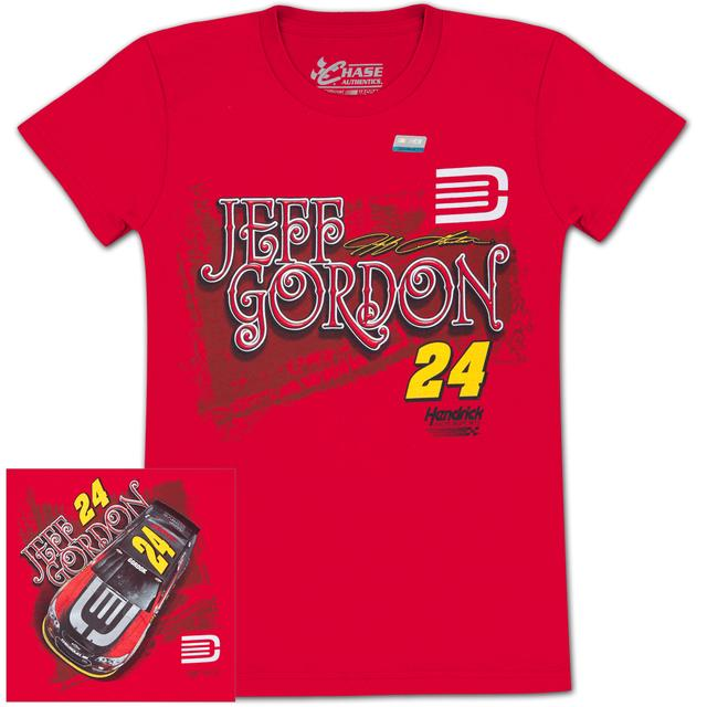 Hendrick Motorsports Jeff Gordon #24 DTEH/AARP Ladies Fabricator T-shirt