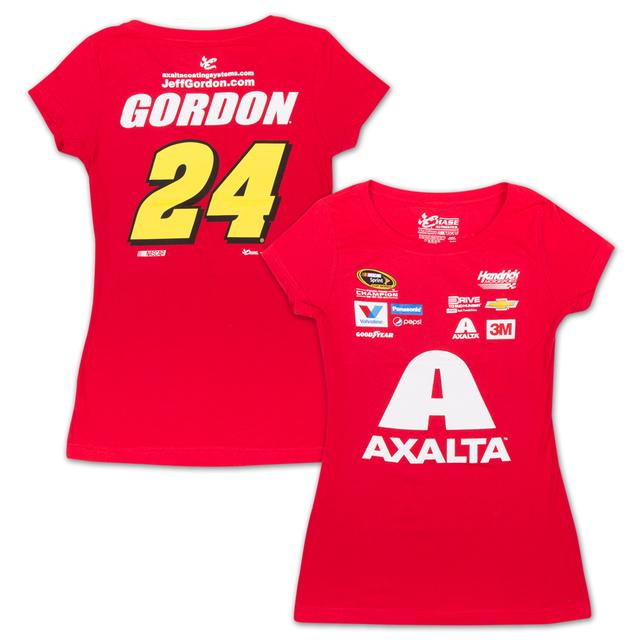 Hendrick Motorsports Jeff Gordon - 2015 Chase Authentics  Axalta Ladies Uniform Tee