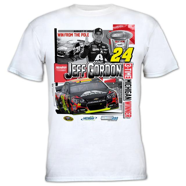 Hendrick Motorsports Jeff Gordon #24 2014 Pure Michigan 400 Race Winner T-shirt PRE-ORDER