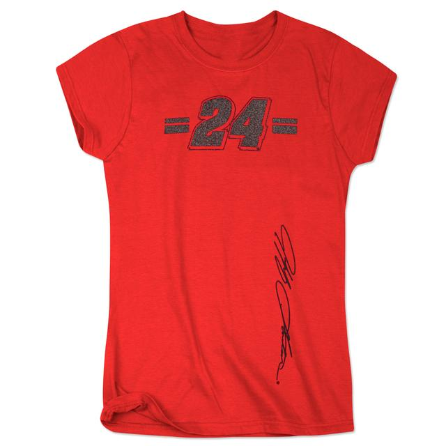 Hendrick Motorsports Jeff Gordon 2015 Ladies Glitter Girl Crew Shirt