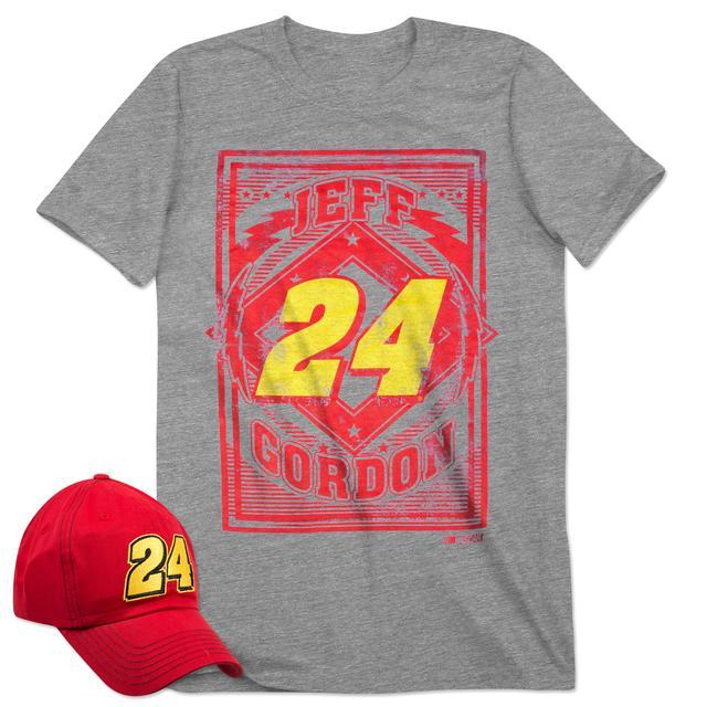Hendrick Motorsports Jeff Gordon 2015 Men's SS Driver Tee & Cap Combo