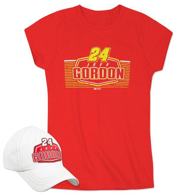 Hendrick Motorsports Jeff Gordon 2015 Ladies SS Driver Team Tee & Cap Combo