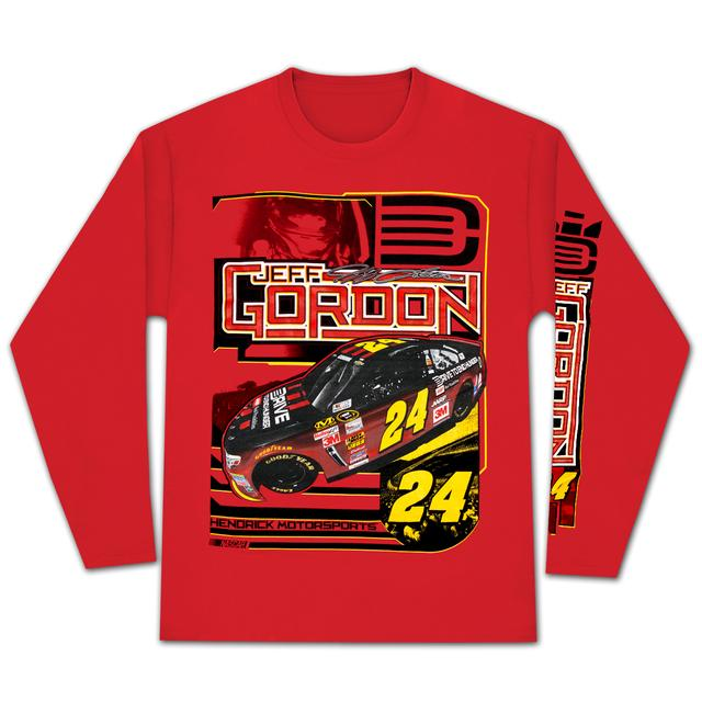 Hendrick Motorsports Jeff Gordon 2015 Chase Authentics Adult Sheet Metal Longsleeve Tee