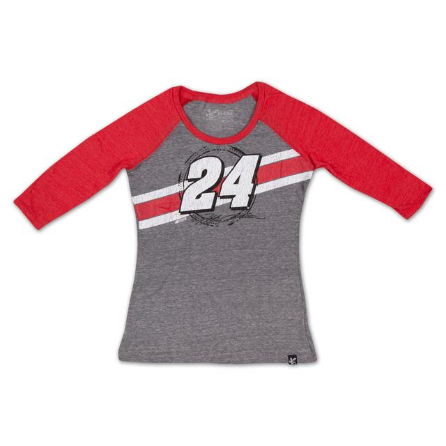 Hendrick Motorsports Jeff Gordon - 2015 Ladies Track 3/4 Sleeve Tee
