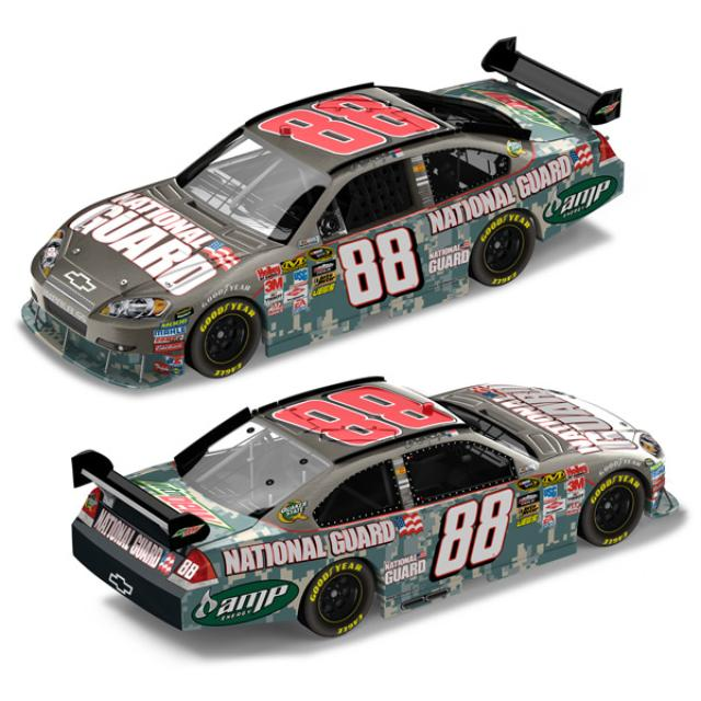 Hendrick Motorsports Dale Jr. National Guard ACU Camo Brushed Metal 1:24 diecast