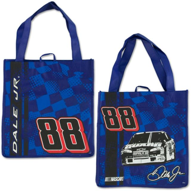 Hendrick Motorsports Dale Jr. #88 Reusable Checkered Blue Shopping Tote