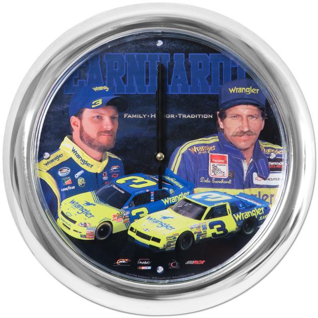 "Hendrick Motorsports Dale Jr. #3 Wrangler 10"" Chrome Clock"