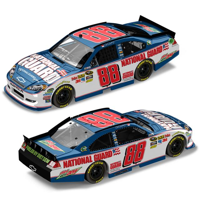 Hendrick Motorsports Dale Jr 2012 #88 National Guard 1:24 Scale Nascar Sprint Cup Series Die-Cast