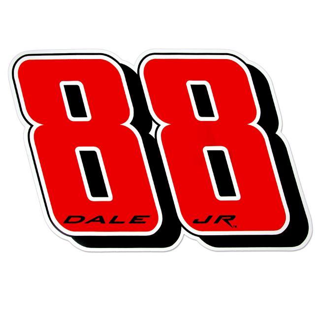 Hendrick Motorsports Dale Jr #88 12 Inch Number Magnet