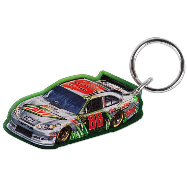 Hendrick Motorsports Dale Jr #88 Diet Mt Dew Car Acrylic Key Ring