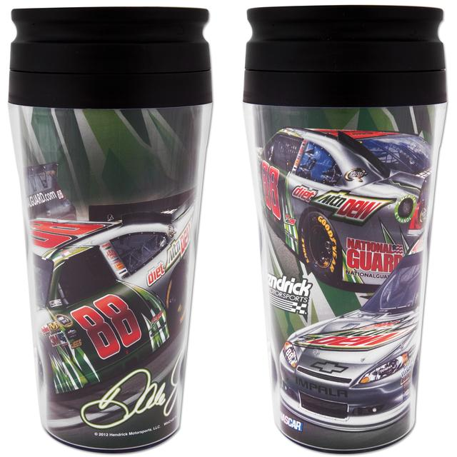 Hendrick Motorsports Dale Jr #88 Diet Mt Dew 16oz Travel Mug Contour
