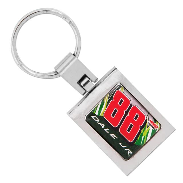 Hendrick Motorsports Dale Jr #88 Diet Mt Dew Domed Premium Key Ring