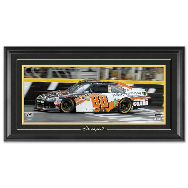 Hendrick Motorsports Dale Jr #88 2012 Sprint Showdown Win Framed Mini Panoramic w/ Engraved signature