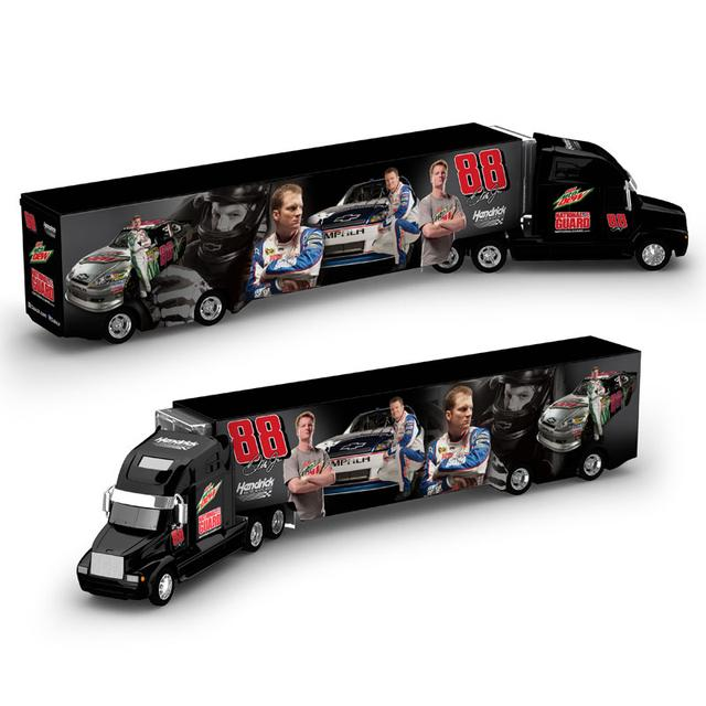 Hendrick Motorsports Dale Jr Diet Mt Dew/National Guard Hauler Truck 1:64 Scale diecast