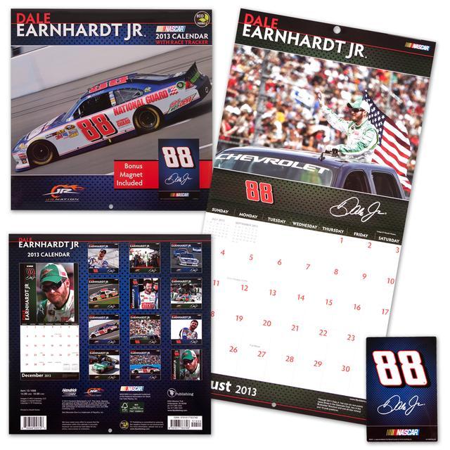 Hendrick Motorsports Dale Jr 2013 Deluxe Wall Calendar