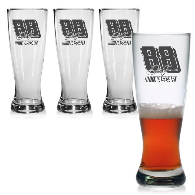 Hendrick Motorsports Dale Jr 20oz Pilsner Glass - Set of 4