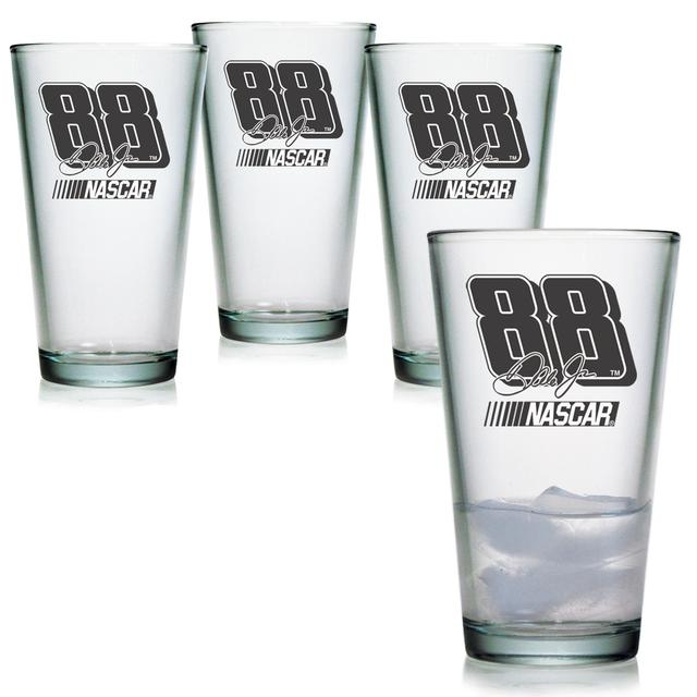 Hendrick Motorsports Dale Jr 16oz Pint Glass - Set of 4