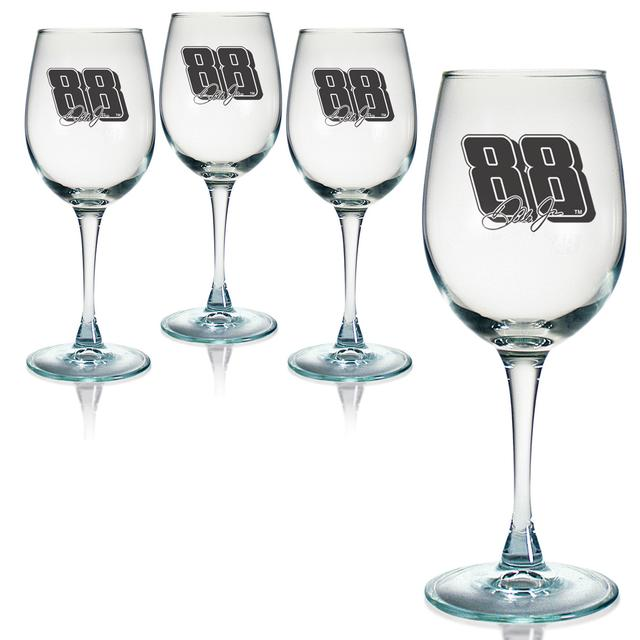 Hendrick Motorsports Dale Jr 12oz Wine Glass - Set of 4