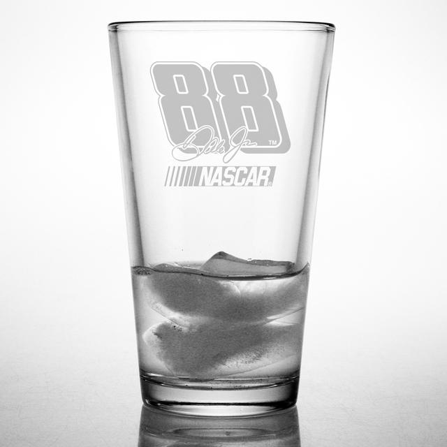 Hendrick Motorsports Dale Jr 16oz Etched Pint Glass