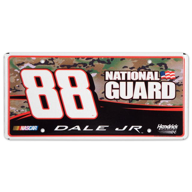 Hendrick Motorsports Dale Jr #88 National Guard Camo Metal License Plate